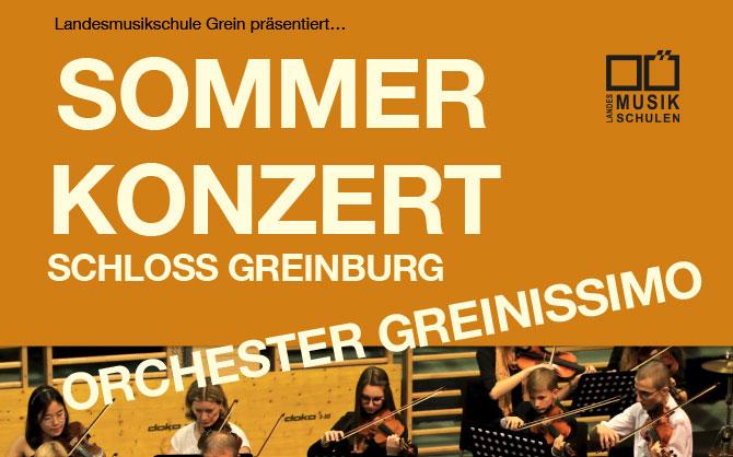 SOMMERKONZERT auf Schloss Greinburg: Samstag, 1. Juni 2019  18.00 Uhr